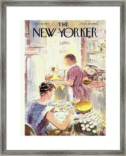 New Yorker September 18 1954 Framed Print