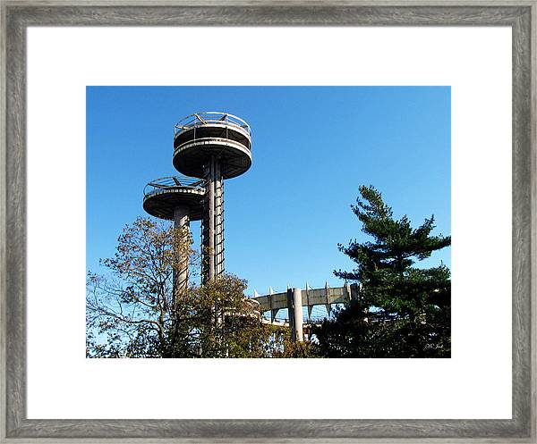 New York's 1964 World's Fair Observation Towers Framed Print