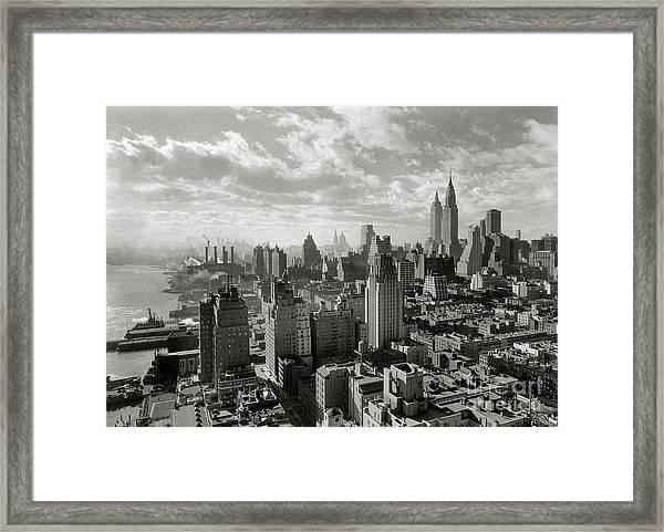 New Your City Skyline Framed Print