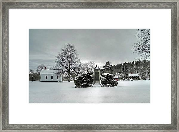 Newbury Lower Green Framed Print
