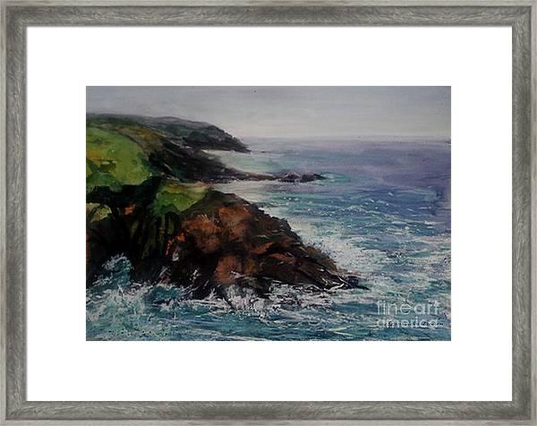 Newlyn Cliffs 2 Framed Print