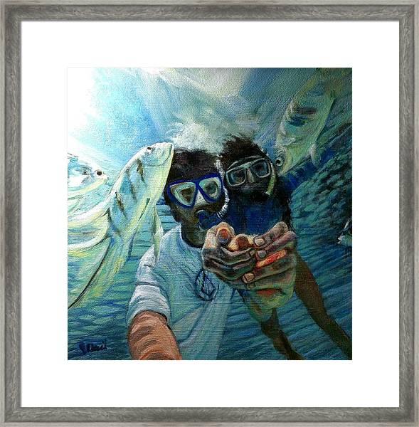 Honeymoon Selfie Framed Print