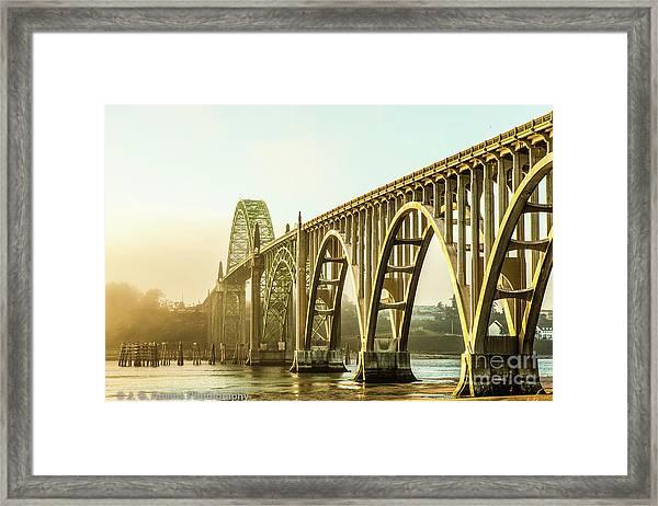 Newport Bridge Framed Print