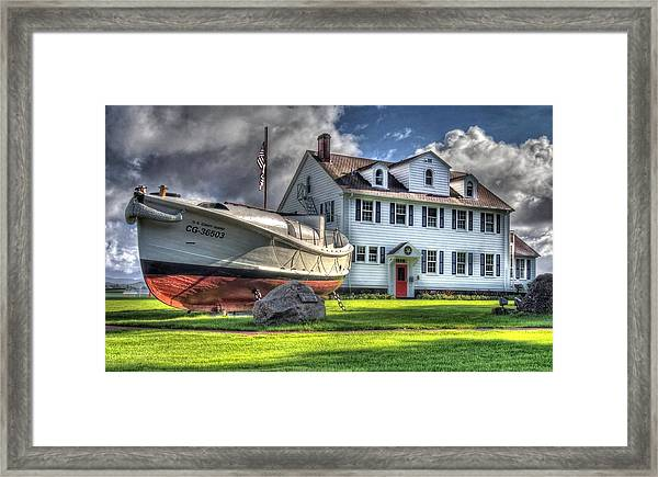 Newport Coast Guard Station Framed Print