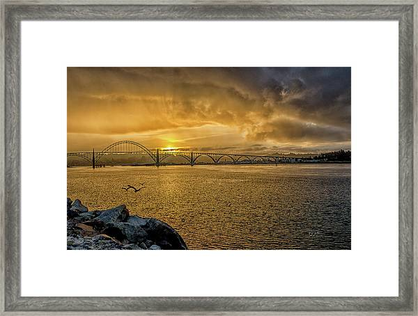 Newport Morning Framed Print