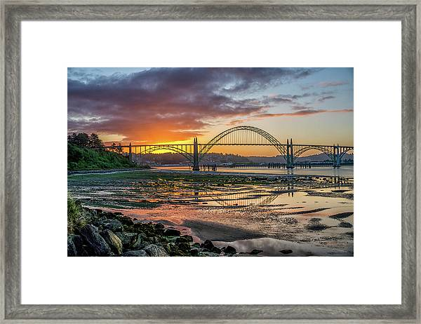 Newport Or Greeting Framed Print