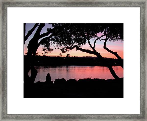Newport Sunset Framed Print