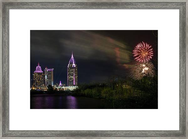 New Year Celebration 4 Framed Print