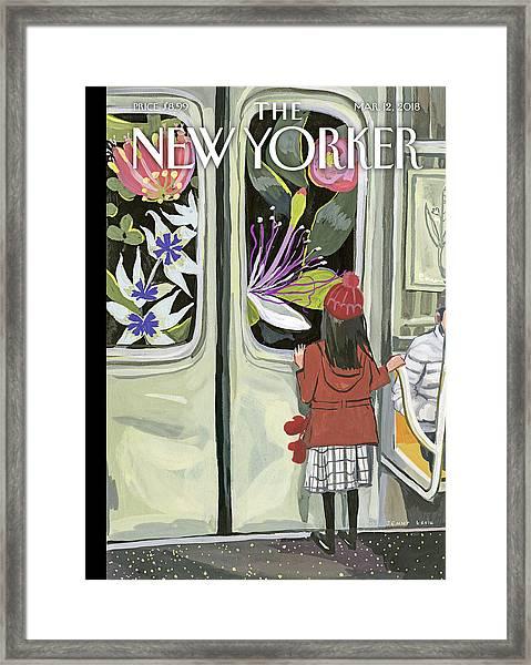 Next Stop Spring Framed Print