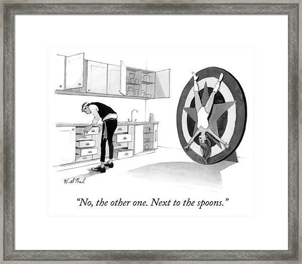 Next To The Spoons Framed Print