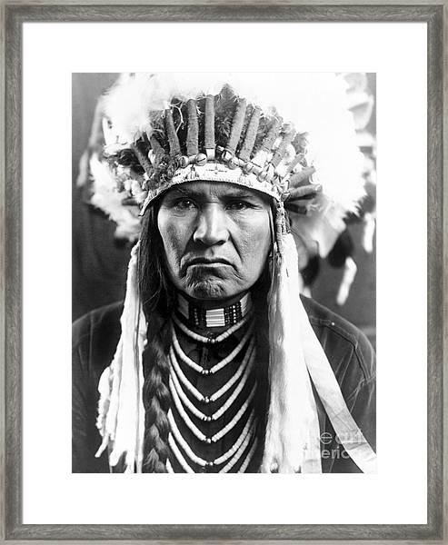 Nez Perce Native American - To License For Professional Use Visit Granger.com Framed Print