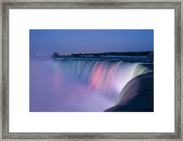 Niagara Falls At Dusk Framed Print
