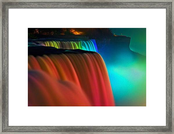 Niagara Falls At Night Framed Print