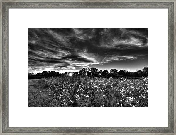 Nice And Cloudy At Sunset Framed Print