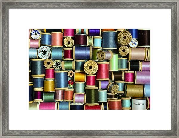 Nice Threads Framed Print