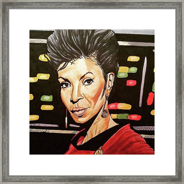 Uhura  Framed Print by Russell Boyle
