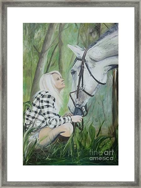 Nicole And Cellie Framed Print