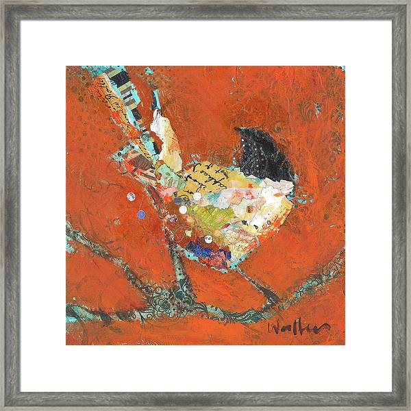 Framed Print featuring the painting Nigel by Shelli Walters