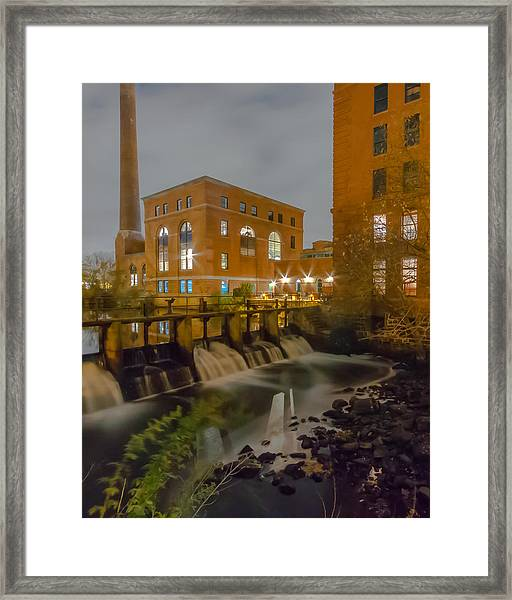 Night At The River Vertical Framed Print