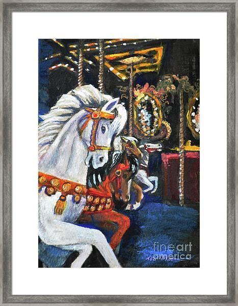 Night Carousel Framed Print