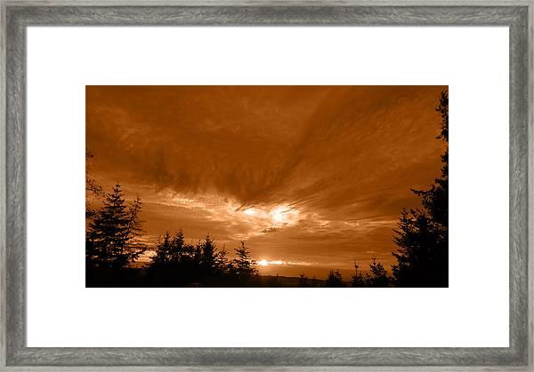 Night Clouds II Framed Print