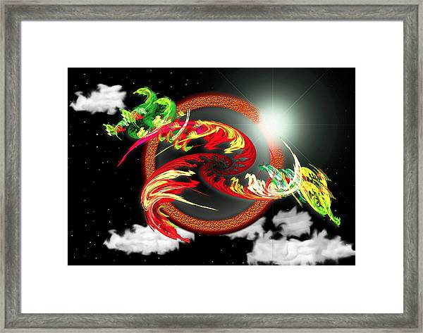 Night Dragon Framed Print