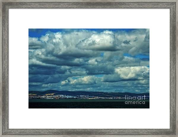 Night Falls On The Tagus River - Portugal Framed Print