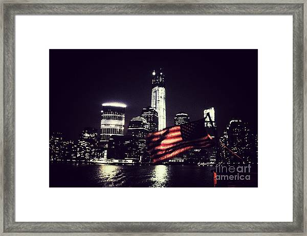 Night Flag Framed Print