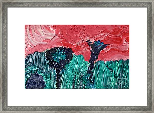 Night Flower Framed Print