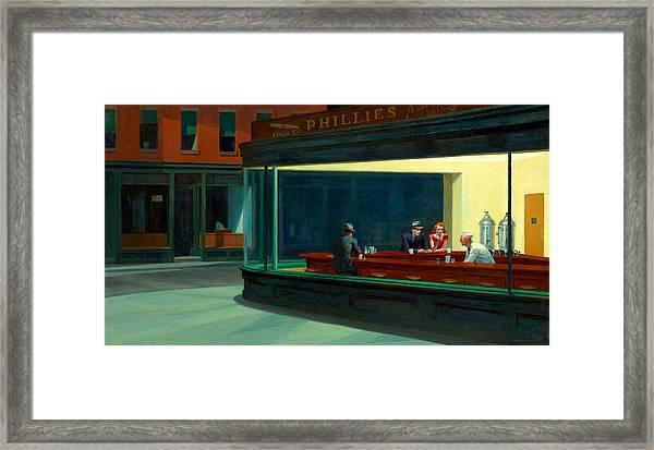 Night Hawks Framed Print