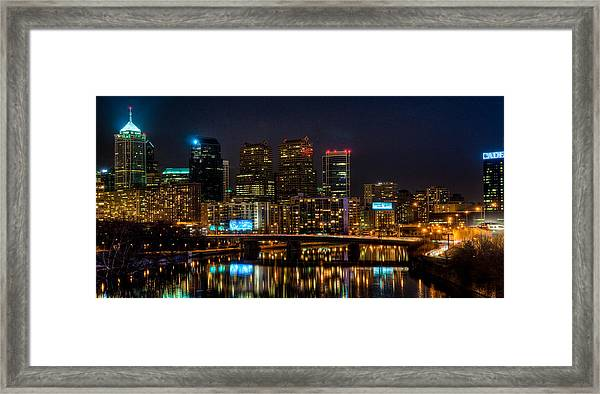 Night In The City Of Brotherly Love Framed Print