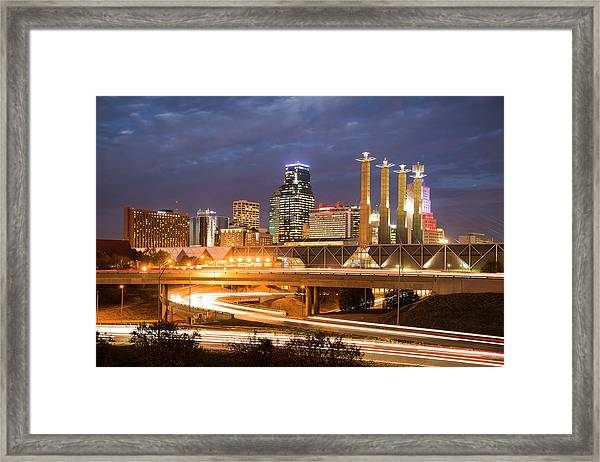 Night Kc Framed Print