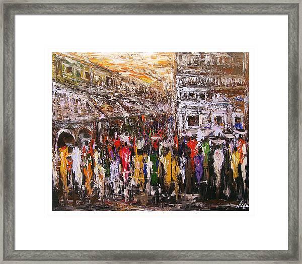 Night Market Framed Print