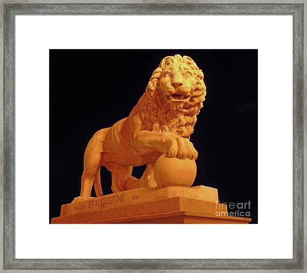 Night Of The Lion Framed Print