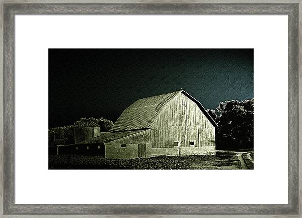 Night On The Farm Framed Print