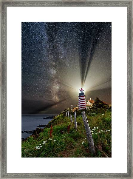 Night Over West Quoddy Framed Print