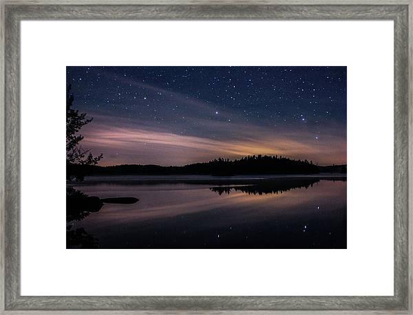 Night Reflections On Pharaoh Lake Framed Print