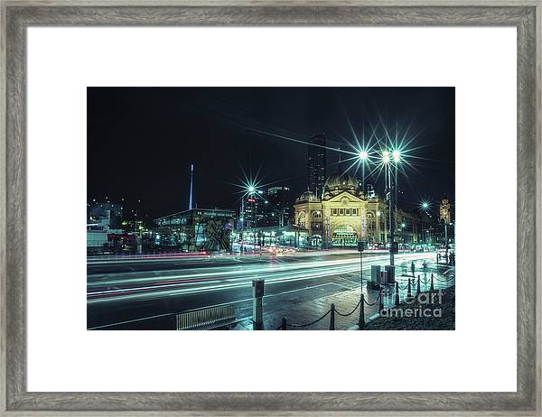 Night Ride Framed Print