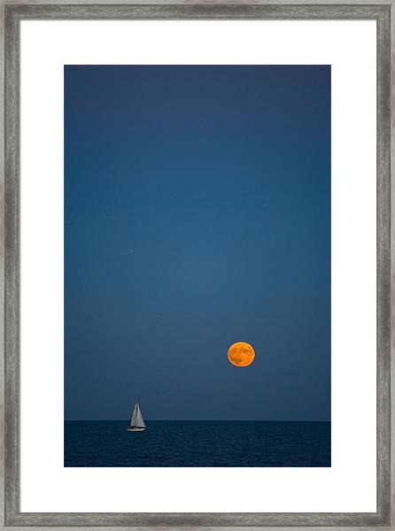 Night Sail Framed Print