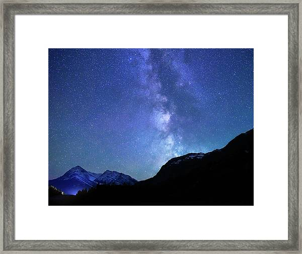 Night Sky In David Thomson Country Framed Print
