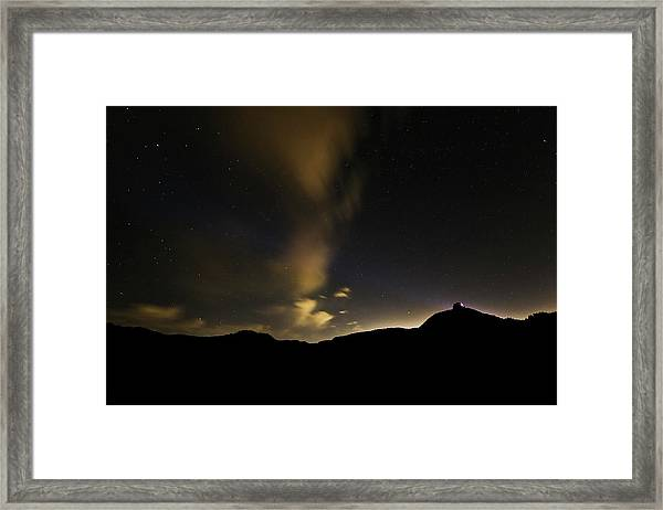 Night Time At Palo Duro Canyon State Park - Texas Framed Print