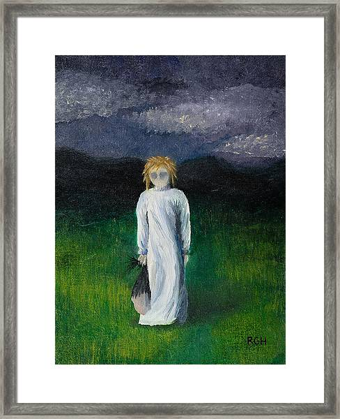 Framed Print featuring the painting Night Walk by Break The Silhouette