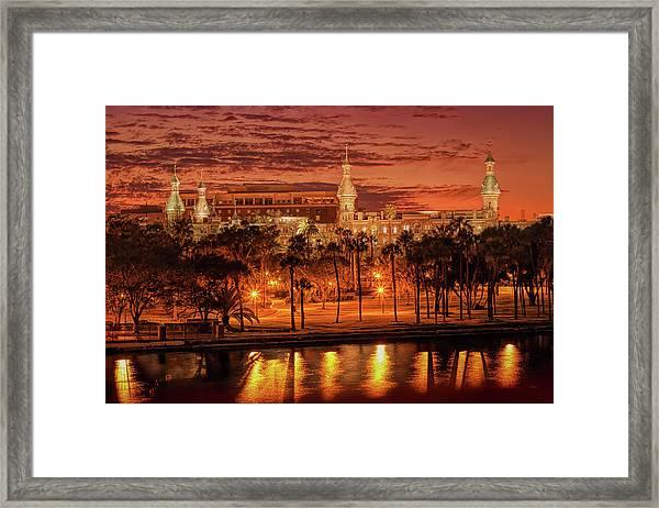 Nightfall In Tampa Framed Print