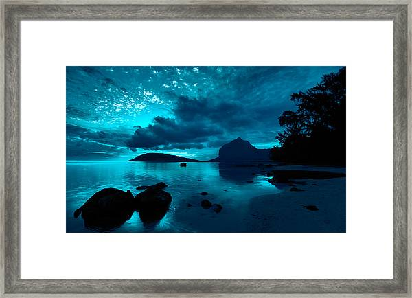 Nightfall Near Le Morne Framed Print
