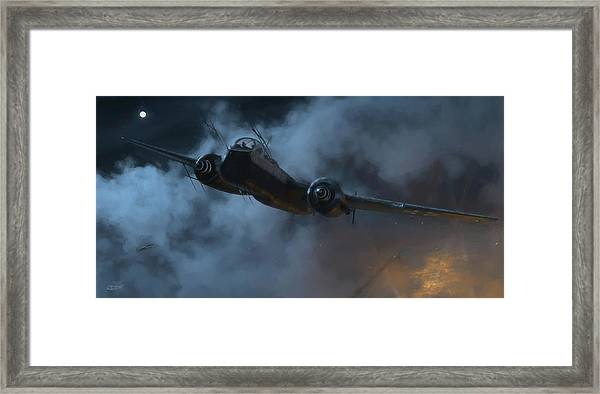 Nightfighter - Painterly Framed Print by Robert Perry