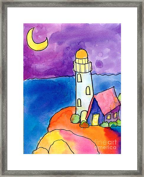 Nighthouse Framed Print