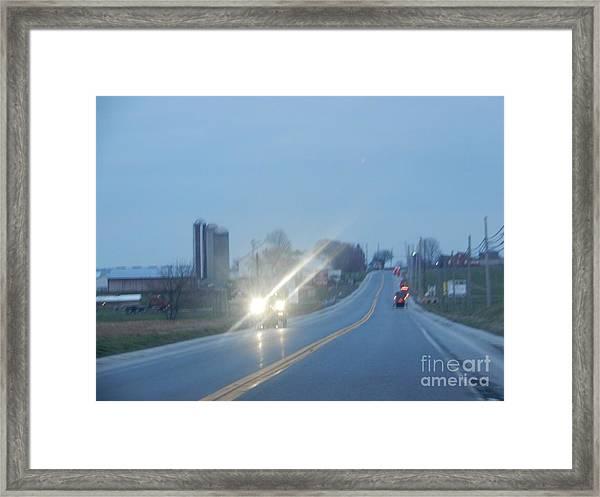 Nightime Travel Framed Print