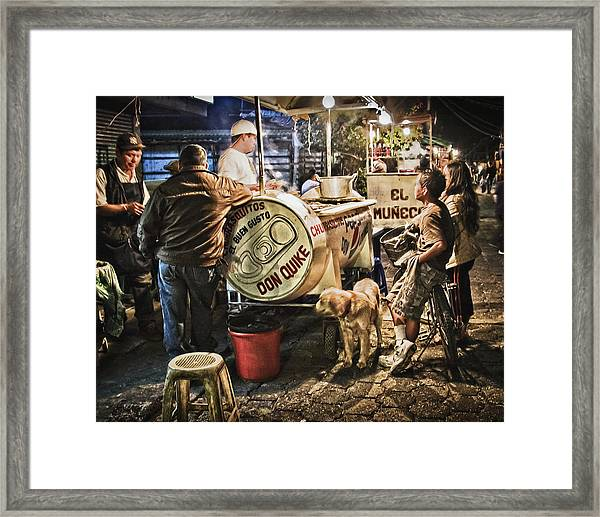 Nightlife In Guatemala Framed Print