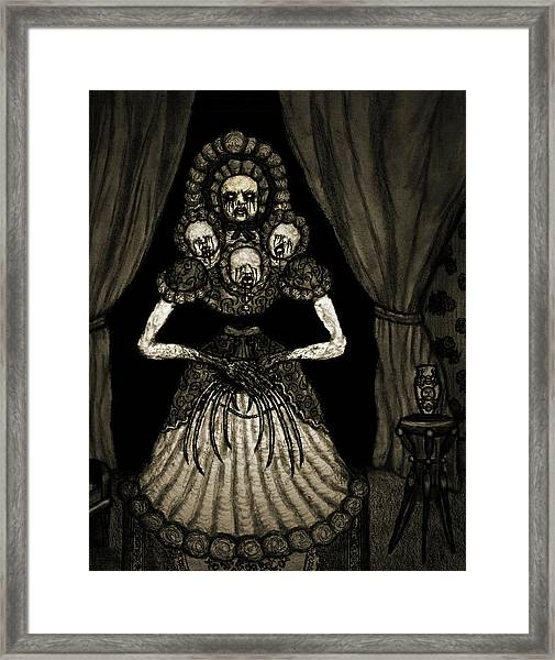 Nightmare Dolly - Artwork Framed Print