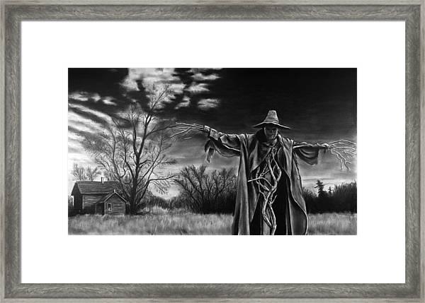 Nightmare On The Farm Framed Print